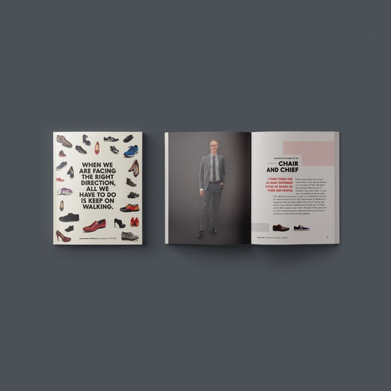 ninesixteen — Projects —Department of Medicine Annual Report Spread